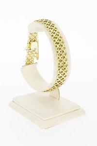 14 Karaat gouden gevlochten schakelarmband-19,4 cm