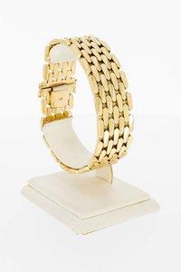 14 Karaat geel gouden Staafjes schakelarmband - 19,7 cm