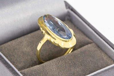 14 Karaat gouden Retro ring met Topaas - 17,3 mm