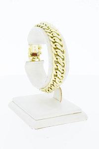 14 Karaat gouden gevlochten schakelarmband - 18,6 cm
