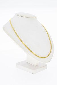 14 Karaat gouden vierkant gevlochten Collier - 45,5 cm