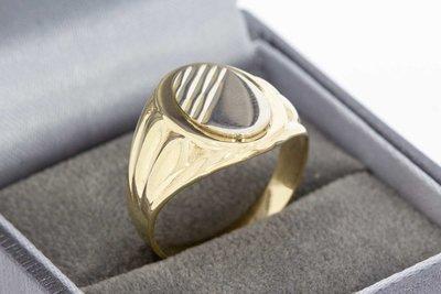 14 Karaat bicolor gouden ovale Statement ring (18,9 mm)