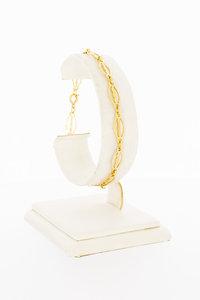 14 Karaat geel gouden fantasie schakel armband - 19 cm