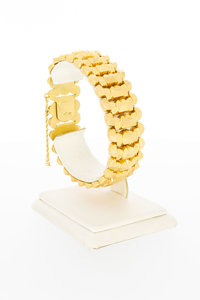 18 Karaat gouden Rupsband schakelarmband - 19,1 cm
