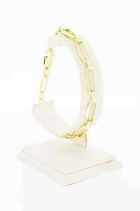 14 Karaat gouden Closed Forever schakelarmband - 22,4 cm