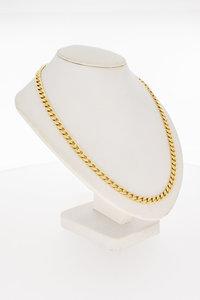 14 Karaat gouden gewalste Gourmet schakelketting-76,5 cm