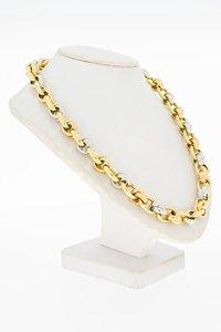 14 Karaat bicolor gouden fantasie Anker schakel Collier - 45 cm