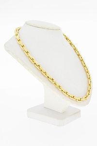 14 Karaat bicolor gouden Anker schakel Collier - 46,8  cm