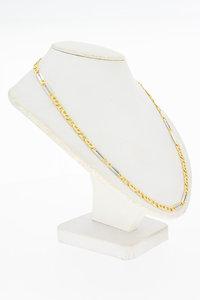 14 Karaat bicolor gouden Anker schakelketting - 55,8 cm