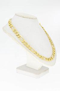 14 karaat geel gouden Figaro schakelketting- 61 cm