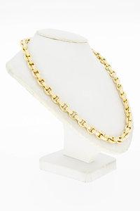 14 Karaat bicolor gouden Anker schakel Collier - 45,8 cm