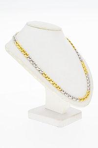 18 Karaat gouden Gourmet schakelketting - 54,8 cm