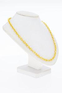 14 Karaat gouden gefigureerde Anker schakelketting- 60 cm