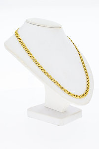14 Karaat geel gouden Anker schakelketting - 59 cm