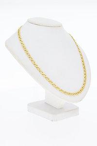 14 Karaat gouden geslepen Anker schakelketting - 60 cm
