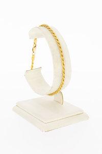 14 Karaat geel gouden Koord schakelarmband - 19,9 cm