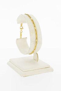 14 Karaat geel gouden Valkoog schakelarmband - 18,5 cm