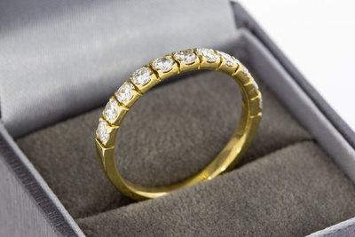 14 Karaat gouden aanschuifring gezet met Diamant-1.1 crt