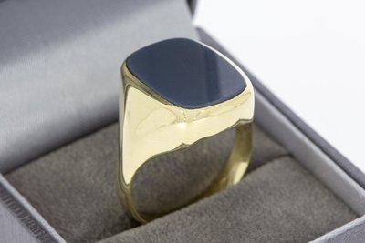 14 Karaat gouden Zegelring met blauwe Lagensteen - 20,9 mm