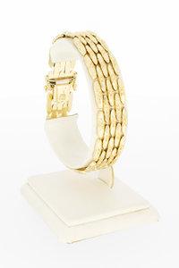 14 karaat geel gouden Tank schakelarmband - 19 cm