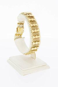 14 Karaat gouden Fantasie gevlochten armband - 19,3 cm