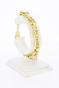 18 Karaat geel gouden Fantasie schakelarmband - 19 cm