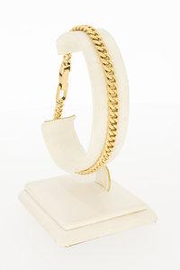 14 karaat geel gouden Gourmet schakel armband - 21 cm