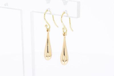 14 Karaat gouden Pegel- vormige Oorhangers - 2,4 cm