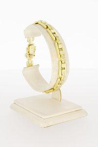 14 Karaat geel gouden Staafjes schakelarmband - 19,5 cm