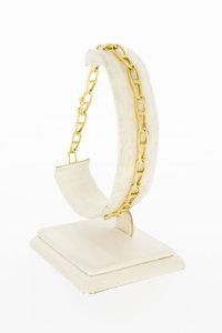 14 Karaat gouden gewalste Gourmet armband - 21,8 cm