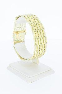 14 Karaat geel gouden brede Staafjes armband - 19,8 cm