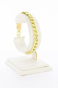 14 Karaat gouden Open Gourmet Schakelarmband - 19 cm