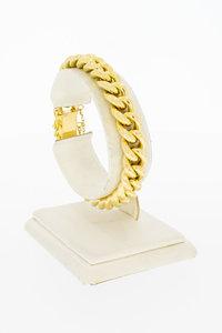 18 Karaat gouden Gourmet schakelarmband - 19 cm