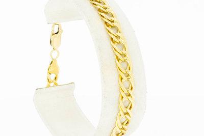 18 Karaat gouden gevlochten Gourmet armband - 19,4 cm