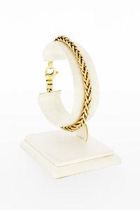 14 Karaat geelgouden Vossenstaart schakelarmband-19,8 cm