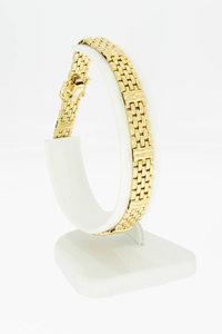 14 Karaat gouden Tank schakelarmband - 20,4 cm