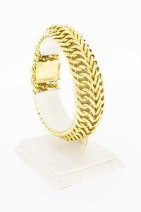 18 karaat geel gouden gevlochten Rugarmband - 20,9 cm
