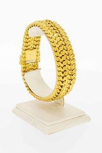 18 Karaat gouden gevlochten schakel armband - 20,8 cm