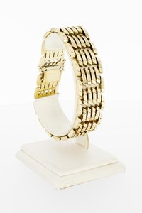 14 Karaat brede gouden staafjes Tank- armband- 20,1 cm