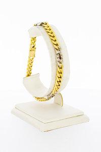 18 Karaat gouden Gourmet armband met Diamant- 21 cm