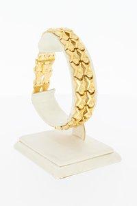 18 Karaat gouden gefigureerde schakelarmband - 19,4 cm