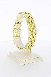 14 Karaat geel gouden Tank schakelarmband - 20 cm