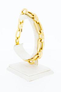 18 Karaat geel gouden Anker schakelarmband - 22 cm
