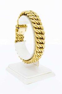 18 Karaat gouden gevlochten schakelarmband - 20,5 cm