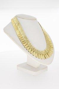 14 Karaat gouden Zonnestraat Staafjes Collier - 42,2 cm