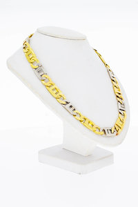 18 Karaat bicolor gouden Rolex schakel Collier - 52,4 cm