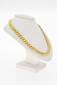18 Karaat geel gouden Gourmet schakel Collier - 40 cm