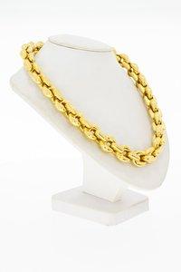 18 Karaat geel gouden Anker schakel Collier - 46 cm