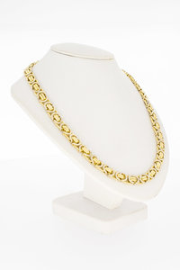 18 Karaat bicolor gouden platte Koningsketting - 61,5 cm