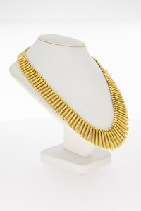 18 Karaat gouden Zonnestraal staafjes Collier - 45 cm